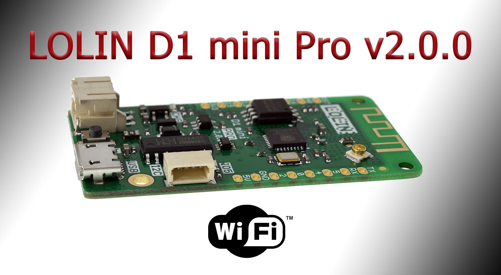 WEMOS Electronics LOLIN D1 mini Pro v2.0.0
