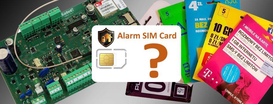 Jaka karta SIM do alarmu