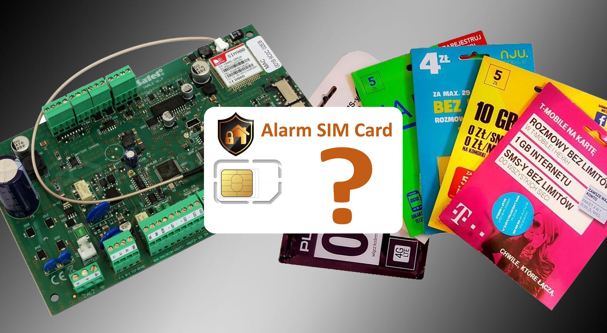 Jaka karta SIM do instalacji alarmowej