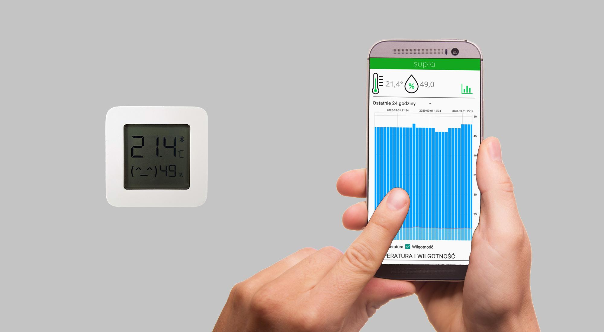 Supla Virtual Device – bramka dla czujników Xiaomi LYWSD03MMC