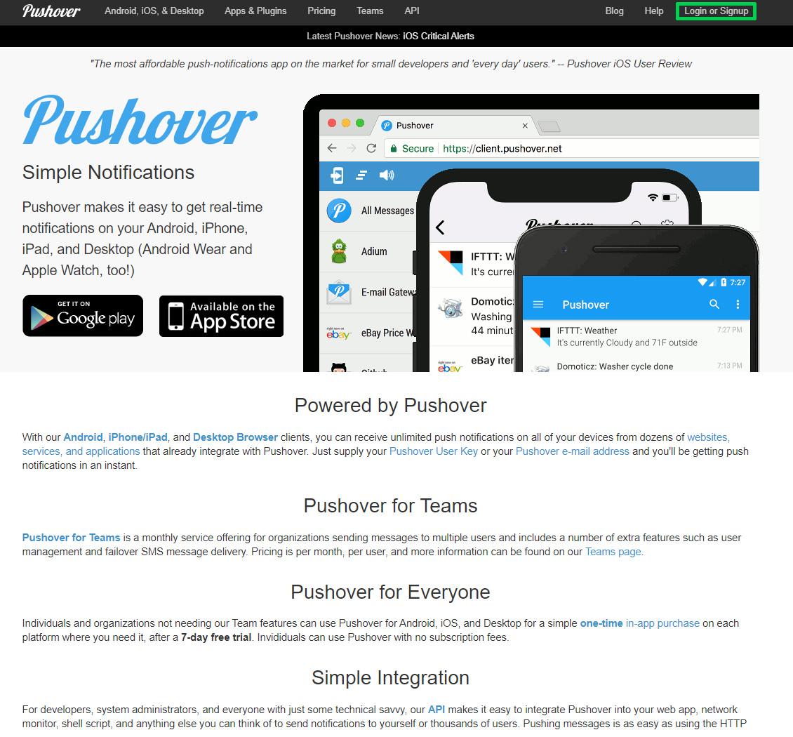 Supla Pushover